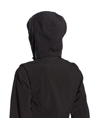 CMP – F.lli Campagnolo Damen Jacke Softshell, Nero U901, 38, 3A74326 - 3