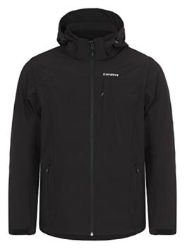 ICEPEAK Herren Softshell Jacket Leonidas, Black, L, 557805682I - 1