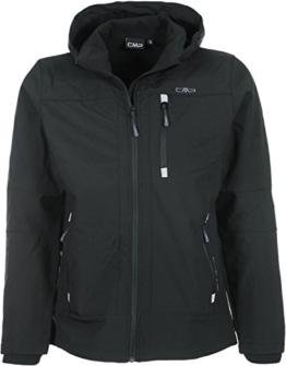 CMP Herren Softshelljacke Zip Hood, nero, M, 3A01787