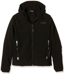CMP Jungen Softshelljacke Fix Hood, schwarz (U901), 164, 3A00094 - 1