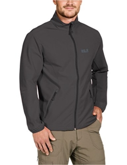 Jack Wolfskin Herren Softshelljacke Motion Flex Jacket M, Dark Steel, XL, 1302931-6032005 - 1