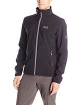 Jack Wolfskin Herren Softshell Jacke Element Jacket, Black, M, 1302911-6000003 - 1