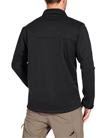 Jack Wolfskin Herren Softshelljacke Assembly Jacket Men, Black, S, 1300283-6001002 - 2