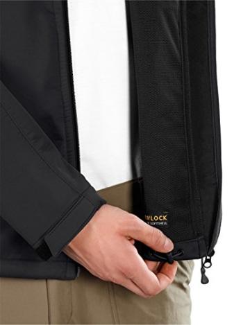 Jack Wolfskin Herren Softshelljacke Assembly Jacket Men, Black, S, 1300283-6001002 - 3