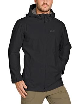 Jack Wolfskin Herren Wetterschutzjacke Arroyo Jacket Men, Black, XL, 1104292-6000005 - 1